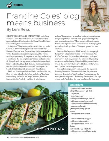 Page 32 of FOOD Francine Coles' blog means business