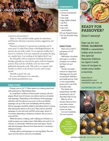 Page 33 of FOOD Francine Coles' blog means business