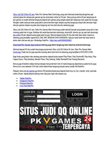 Situs Judi Qq Online 24 Jam Ratu Pkv Games By Agen Pkv Pulsa Bandar Pkv Pulsa Daftar Pkv Pulsa Issuu