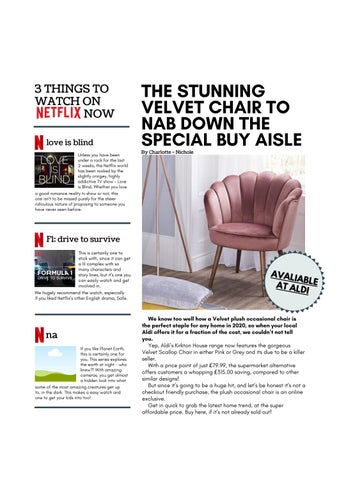 Page 17 of THE STUNNING VELVET CHAIR TO NAB DOWN THE SPECIAL BUY AISLE
