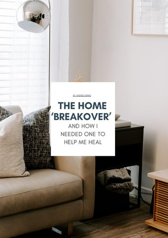 Page 21 of THE HOME 'BREAKOVER' AND HOW I NEEDED ONE TO HELP ME HEAL