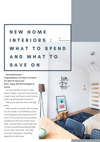 Page 6 of New Home Interiors : What to spend and what to save on.