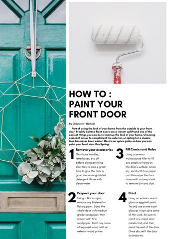 Page 9 of How to Paint your Front Door