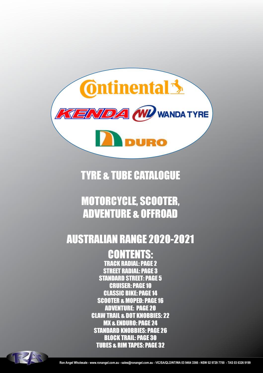 225-250-19 Kenda Motorcycle Tube TR-4
