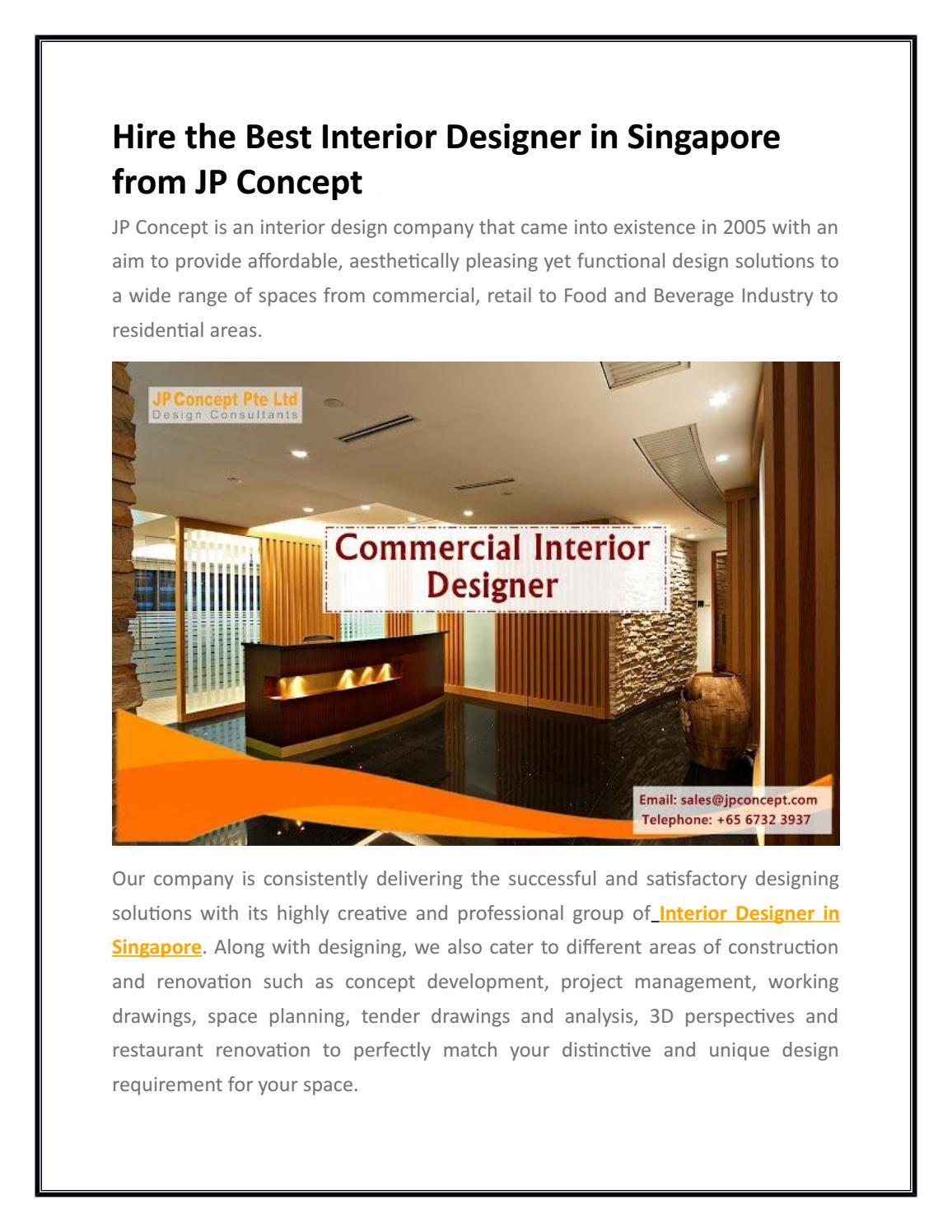 Best Interior Designer In Singapore Jp Concept By Jpconceptpteltd Issuu