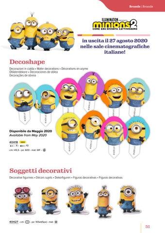 Page 53 of Minions 2 - Dischi e Decoshape in cialda, Vestidolci e soggetti decorativi