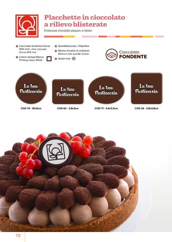 Page 74 of Placchette in cioccolato a rilievo blisterate
