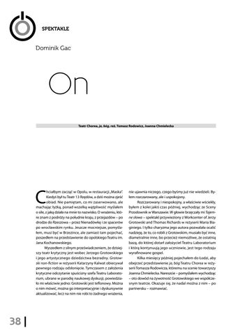 Page 40 of Dominik Gac On [Teatr Chorea, ja, bóg