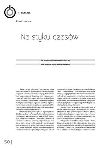 Page 52 of Anna Królica Na styku czasów [Martyna Lornec, Poczucie, że właśnie tak jest, Rafał Pierzyński, Losing the form in darkness