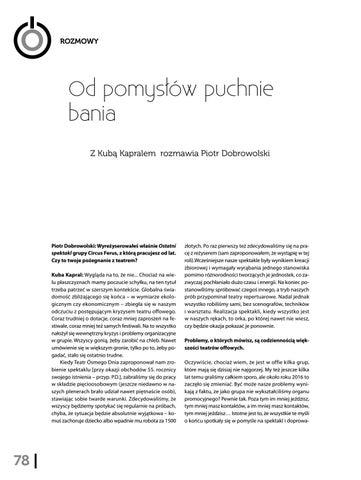 Page 80 of Od pomysłów puchnie bania Z Kubą Kapralem rozmawia Piotr Dobrowolski