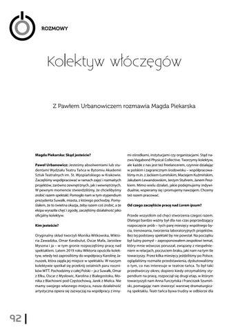 Page 94 of Kolektyw włóczęgów Z Pawłem Urbanowiczem rozmawia Magda Piekarska