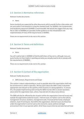 Page 13 of 2 Using the CertiKit ISO9001 toolkit