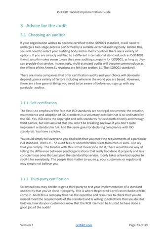 Page 23 of 3 Advice for the audit