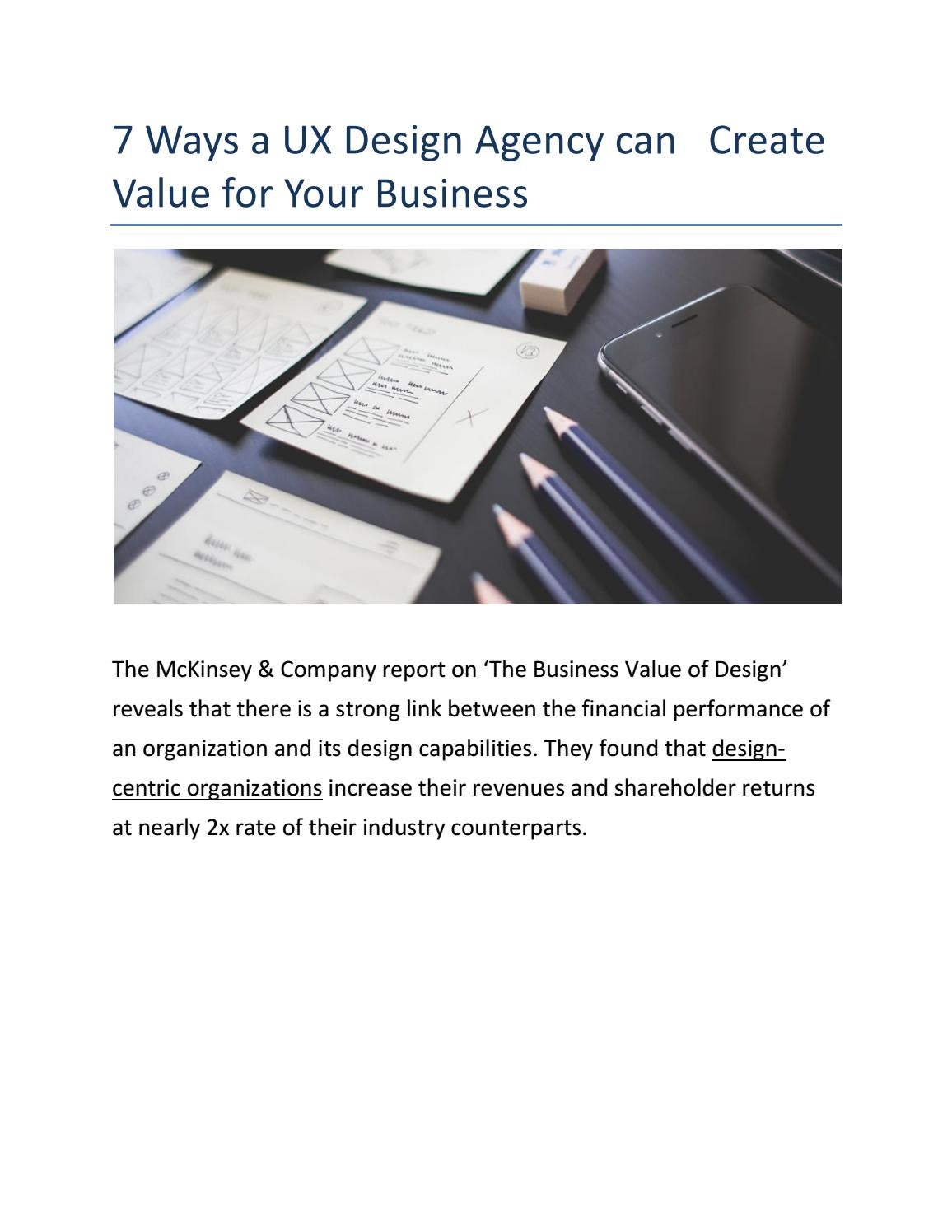 How Ux Design Agency Creates And Build Your Business Value By Mike G Issuu