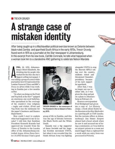 Page 12 of A strange case of mistaken identity Trevor Grundy