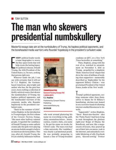 Page 22 of The man who skewers presidential numbskullery