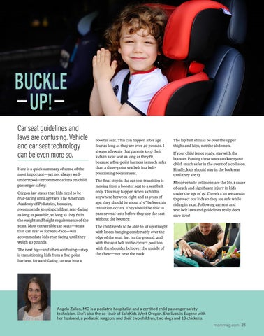 Page 21 of BUCKLE UP! Car seat guidelines