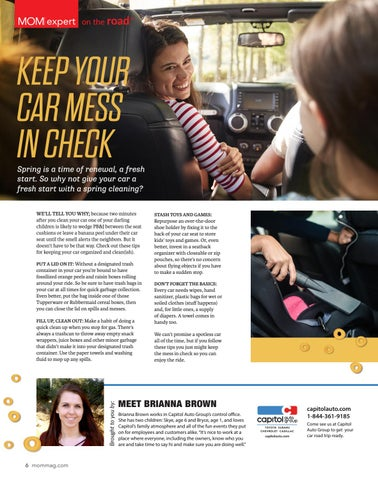 Page 6 of Keep your car mess in check.