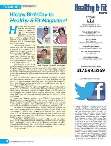 Page 8 of Happy Birthday to Healthy & Fit Magazine!
