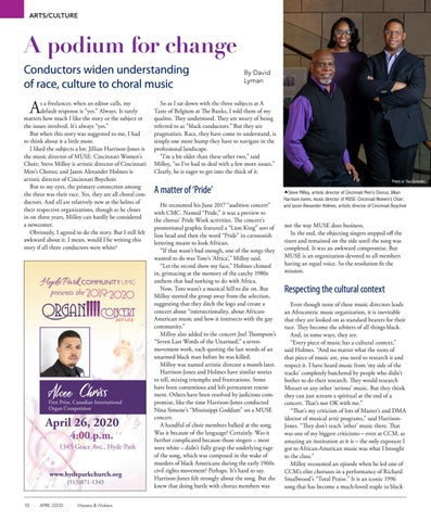 Page 10 of ARTS & CULTURE  10-11   A podium for change