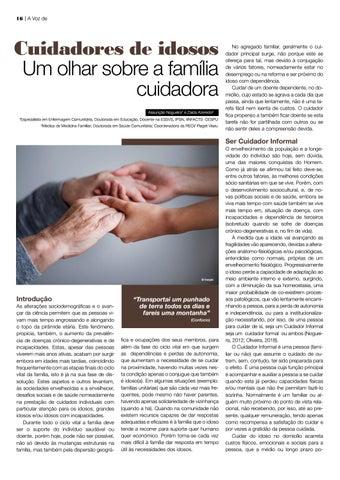 Page 16 of processo do envelhecimento ativo Cuidadores de idosos: um olhar sobre a família cuidadora