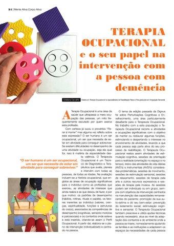 Page 34 of tratamento da Doença de Parkinson Terapia Ocupacional e o seu papel na intervenção co a pessoa com demência