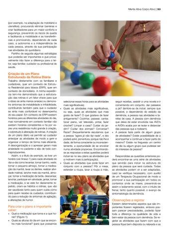 Page 35 of tratamento da Doença de Parkinson Terapia Ocupacional e o seu papel na intervenção co a pessoa com demência