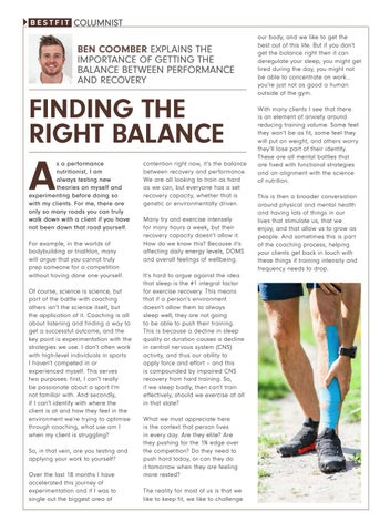 Page 21 of Finding The Right Balance