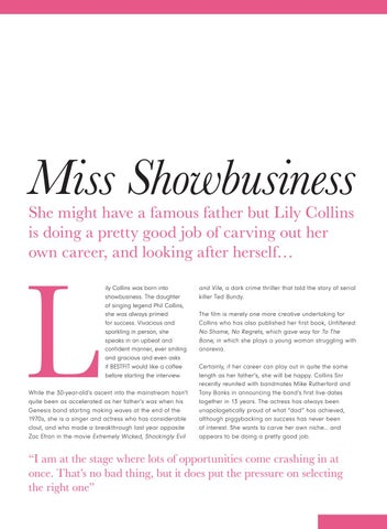 Page 6 of Miss Showbusiness: Lily Collins