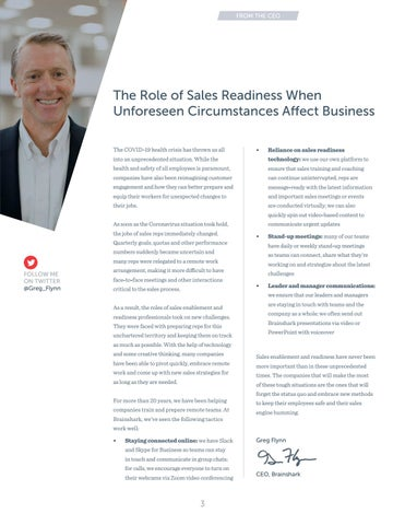 Page 3 of     The Role of Sales Readiness When Unforeseen Circumstances Affect Business