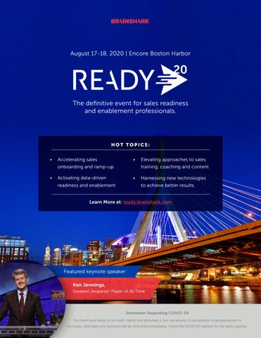 Page 4 of READY20 -The definitive event for sales readiness and enablement professionals.