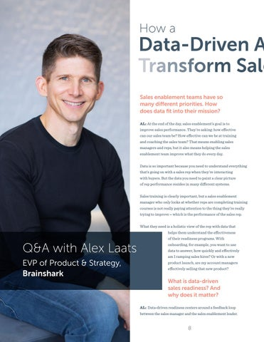 Page 8 of How a Data-Driven Approach Can (and will) Transform Sales Readiness