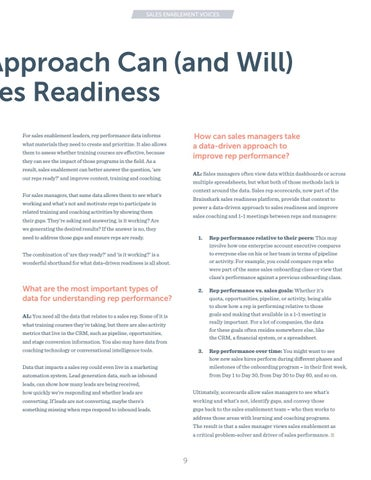 Page 9 of How a Data-Driven Approach Can (and will) Transform Sales Readiness