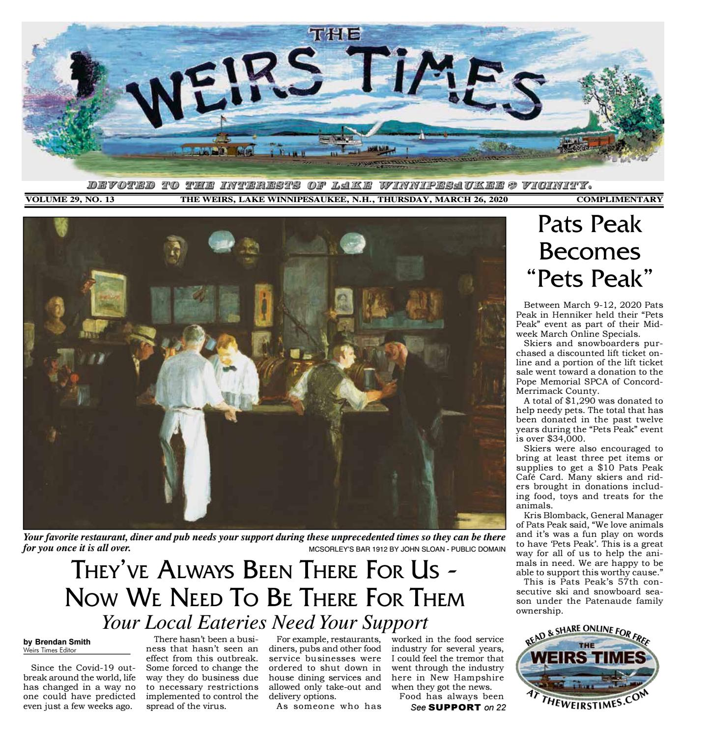 03 26 2020 Weirs Times By The Weirs Publishing Company Issuu
