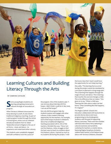Page 6 of Learning Cultures and Building Literacy Through the Arts