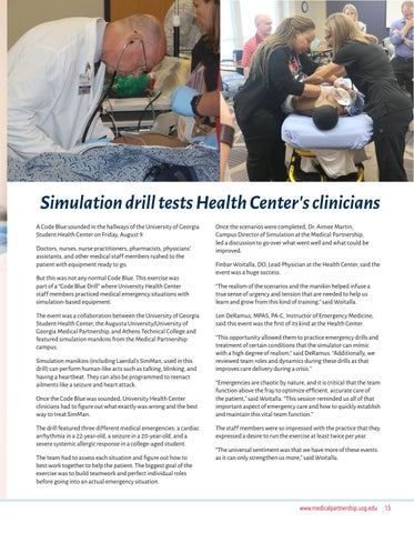 Page 15 of Simulation drill tests UHC clinicians