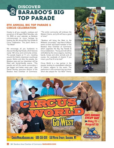 Page 24 of Discover Baraboo's Big Top Parade