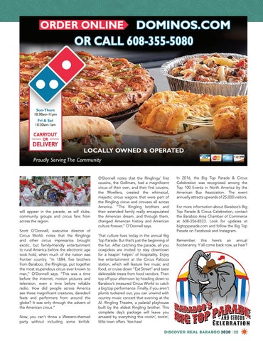 Page 25 of Discover Baraboo's Big Top Parade