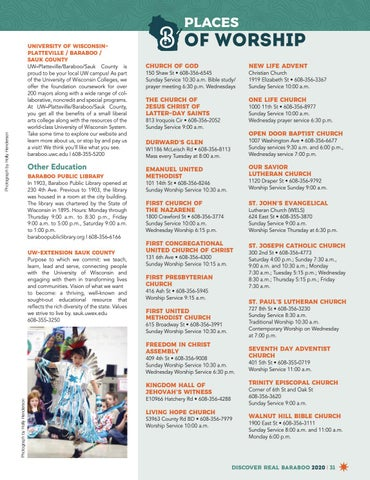 Page 31 of Baraboo Area Education and Places of Worship