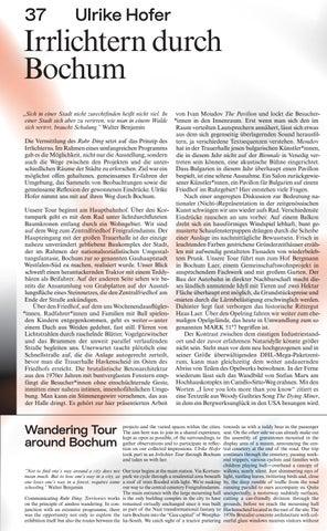 Page 39 of Wandering Tour Ulrike Hofer Irrlichtern durch Bochum around Bochum