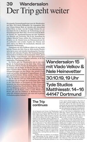 Page 41 of Wandersalon: Der Trip geht weiter The Trip continues
