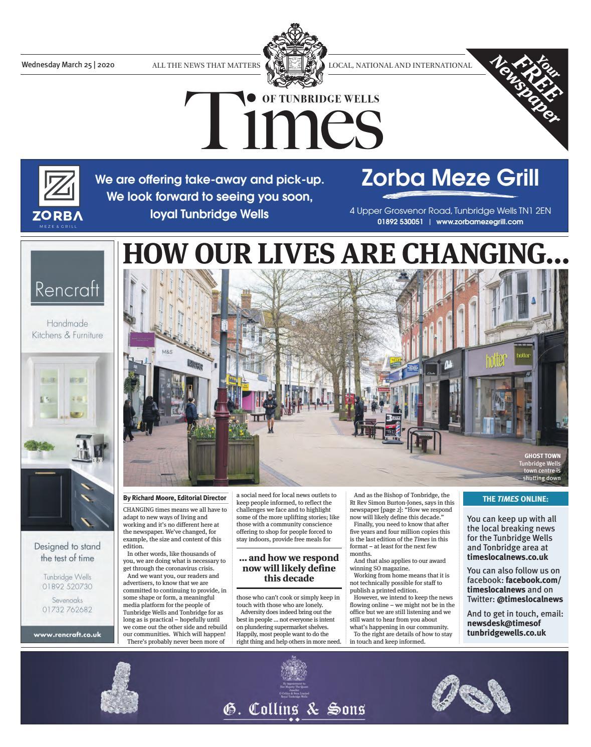 Times Of Tunbridge Wells 25th March 2020 By One Media Issuu