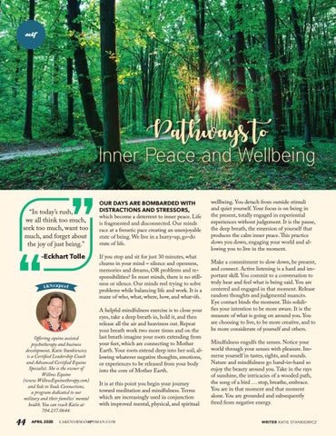 Page 44 of Pathways To Inner Peace And Wellbeing