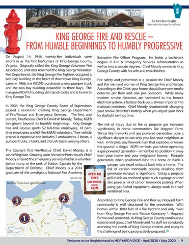 """Page 9 of King George Fire and Rescue- """"From Humble Beginnings to Humbly Progressive"""