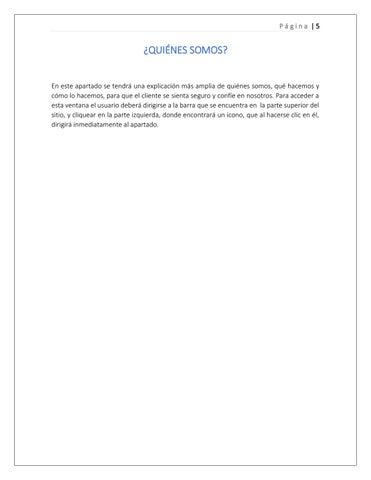 Page 5 of Quiénes somos?