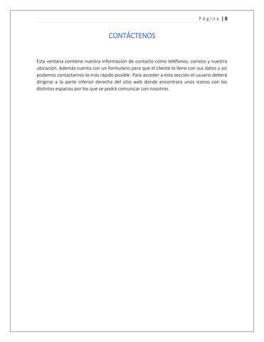 Page 8 of Contáctenos