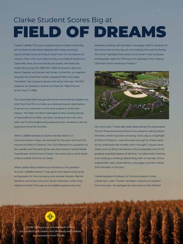 Page 12 of STUDENT SCORES BIG AT FIELD OF DREAMS