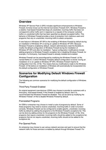 Page 4 of Copy the default Windows Firewall .inf file (Netfw.inf) from an installation of Windows XP SP2