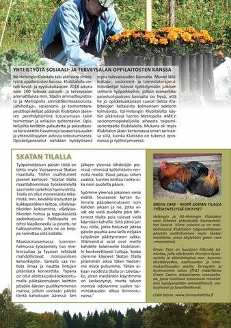 Page 11 of Itä-Helsingin Klubitalon toimintaa 2018