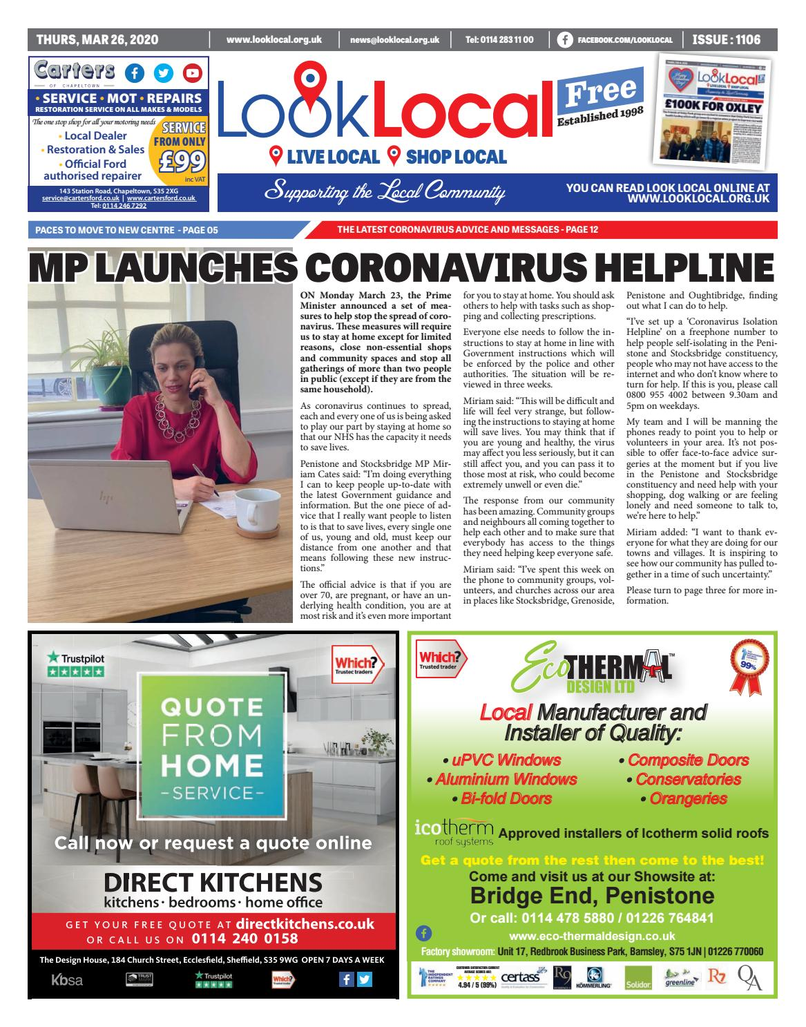Issue 1106 Thursday 26 March 2020 By Look Local Newspaper Issuu